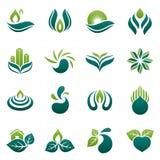 het ontwerp van het milieuembleem Royalty-vrije Stock Afbeeldingen