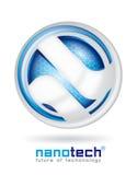 Het ontwerp van het Nanotechembleem Stock Foto's