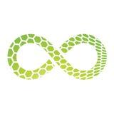 Het Ontwerp van het oneindigheidssymbool Stock Foto