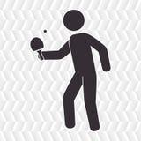 het ontwerp van het pingpongspel Royalty-vrije Stock Afbeelding