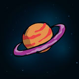 Het ontwerp van het planeetpictogram Royalty-vrije Stock Afbeelding