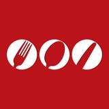 Het ontwerp van het restaurantmenu Stock Foto's
