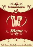 Het ontwerp van het restaurantmenu royalty-vrije illustratie