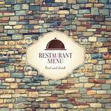Het ontwerp van het restaurantmenu Stock Foto
