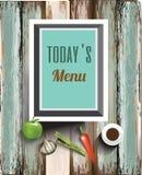 Het ontwerp van het restaurantmenu, restaurantbanner of affiche Royalty-vrije Stock Foto's