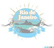 Het ontwerp van het Rio de Janeiro royalty-vrije illustratie