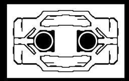 Het ontwerp van het ruimtestation stock fotografie