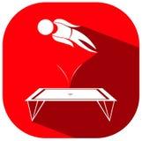 Het ontwerp van het sportpictogram voor gymnastiek op trampoline vector illustratie