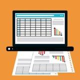 Het ontwerp van het spreadsheetpictogram royalty-vrije illustratie