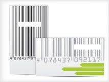 Het ontwerp van het streepjescodeadreskaartje Royalty-vrije Stock Fotografie