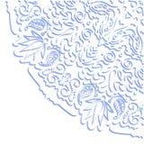 Het ontwerp van het tracerywiel van Hinamehndi Met de hand gemaakte natuurlijk Stock Afbeeldingen