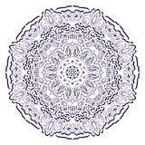 Het ontwerp van het tracerywiel van Hinamehndi Met de hand gemaakte natuurlijk Royalty-vrije Stock Foto's