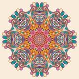 Het ontwerp van het tracerywiel van Hinamehndi Met de hand gemaakte natuurlijk Royalty-vrije Stock Foto