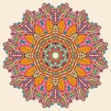 Het ontwerp van het tracerywiel van Hinamehndi Met de hand gemaakte natuurlijk Royalty-vrije Stock Afbeelding
