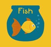 Het ontwerp van het vissencijfer Stock Fotografie