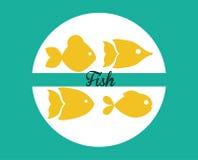 Het ontwerp van het vissencijfer Stock Afbeeldingen