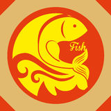 Het ontwerp van het vissencijfer Royalty-vrije Stock Fotografie