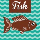 Het ontwerp van het vissencijfer Stock Foto