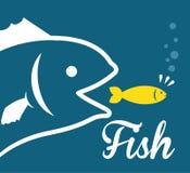Het ontwerp van het vissencijfer Stock Foto's