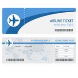 Het ontwerp van het vliegtuigkaartje De vector van het vliegtuigkaartje Lege geïsoleerde vliegtuigkaartjes Lege vliegtuigkaartjes Stock Foto's