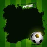 Het ontwerp van het voetbalkader Stock Foto's