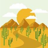 Het ontwerp van het woestijnlandschap Stock Foto