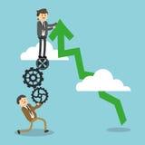 Het ontwerp van het zakenluipictogram Stock Afbeeldingen