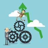 Het ontwerp van het zakenluipictogram Stock Foto