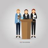 Het ontwerp van het zakenluipictogram Stock Foto's