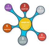 Het ontwerp van Infographic EPS 10 vectordossier Stock Afbeelding