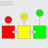Het ontwerp van Infographic Moderne bedrijfsstapbanner Stock Afbeelding