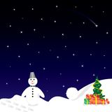 Het ontwerp van Kerstmis met sneeuwman Stock Afbeeldingen