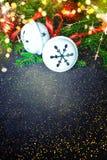Het ontwerp van Kerstmis - Vrolijke Kerstmis Nieuw jaar Stock Foto's