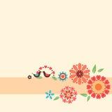 Het Ontwerp van liefdebloemen Stock Foto