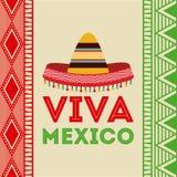 Het ontwerp van Mexico stock illustratie