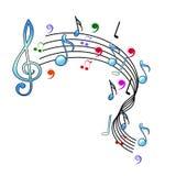 Het ontwerp van muzieknota's Stock Foto's