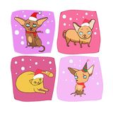 Het ontwerp van het nieuwjaar, huisdier stock illustratie