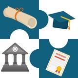 Het ontwerp van onderwijspictogrammen Royalty-vrije Stock Afbeelding