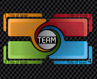 Het ontwerp van Presentatio voor team Stock Afbeelding