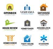 Het Ontwerp van Real Estate van de huiszorg Royalty-vrije Stock Afbeeldingen