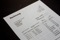 Het ontwerp van rekeningsmalplaatjes in minimale stijl stock afbeelding