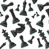 Het ontwerp van het schaakspel stock illustratie