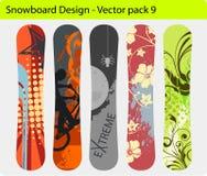Het ontwerp van Snowboard Royalty-vrije Stock Fotografie