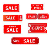 Het Ontwerp van verkoopmarkeringen Royalty-vrije Stock Foto's