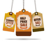 Het Ontwerp van verkoopmarkeringen Stock Fotografie