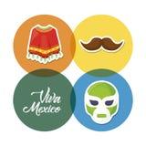 het ontwerp van vivamexico Stock Foto