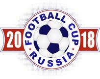 Het ontwerp van het voetbal 2018 kampioenschap in kleuren van nationale vlag van Stock Foto