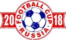 Het ontwerp van het voetbal 2018 kampioenschap in kleuren van nationale vlag van Royalty-vrije Stock Fotografie