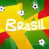 Het Ontwerp 2014 van voetbalbrazilië Stock Fotografie