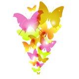 Het ontwerp van waterverfvlinders met gloed Royalty-vrije Stock Fotografie